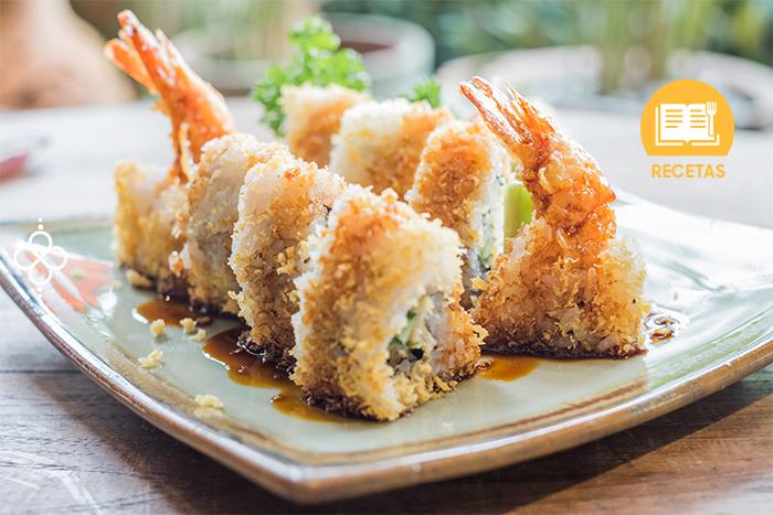 sushi de camarón empanizado